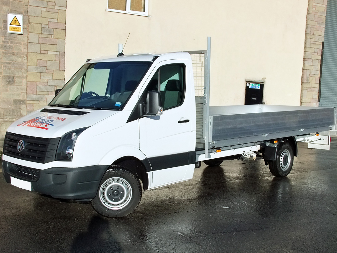 3.5t XL Dropside Van Hire - 16 foot / 4.87m Extra Long Flatbed