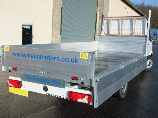VW Crafter 16 foot Dropside Rental 16