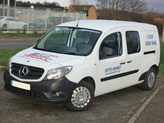 Mercedes-Benz Citan Dualiner small crew van hire - crew cab small van rental 06