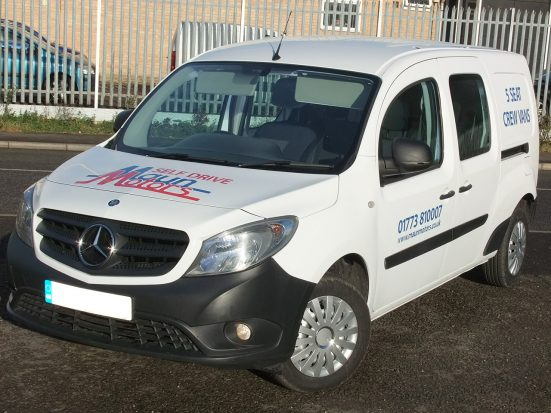 Mercedes-Benz Citan Dualiner small crew van hire - crew cab small van rental 05