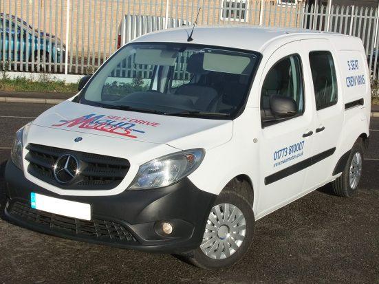 Mercedes-Benz Citan Dualiner small crew van hire - crew cab small van rental 05