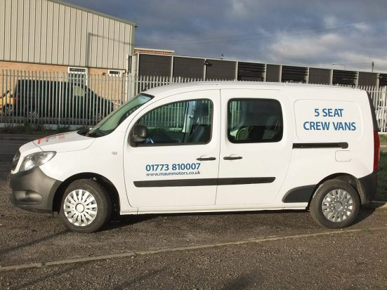 Mercedes-Benz Citan Dualiner small crew van hire - crew cab small van rental 03