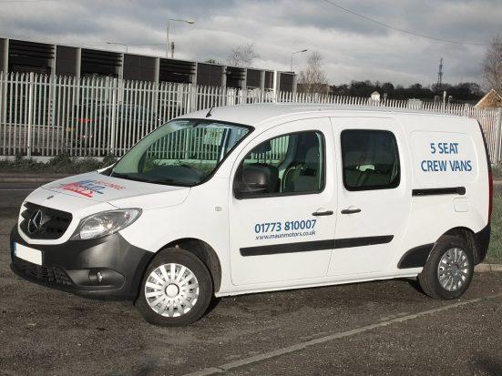 Mercedes-Benz Citan Dualiner small crew van hire - crew cab small van rental