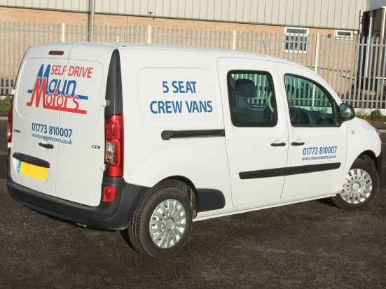 Mercedes-Benz Citan Dualiner small crew van hire - crew cab small van rental 07