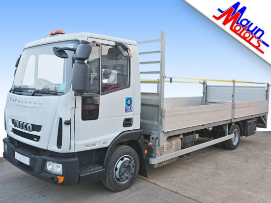 Hire a 7.5 tonne GVW Dropside Lorry with Tail Lift from Maun Motors Self Drive - truck rental specialists