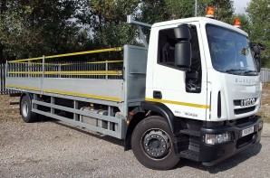 18 tonne Dropside truck hire from Maun Motors Self Drive Truck rental - Flatbed lorry hire