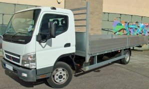 7.5 tonne HGV Dropside Flatbed Lorry Rental from Maun Motors Self Drive truck hire