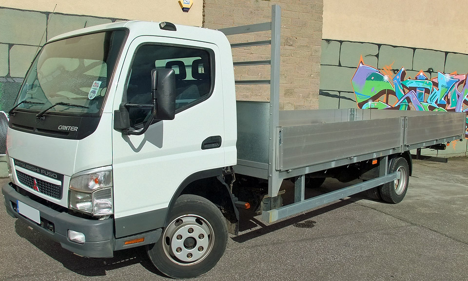 7.5t Dropside Flatbed - 18 foot / 5.48 m - e.g. Canter