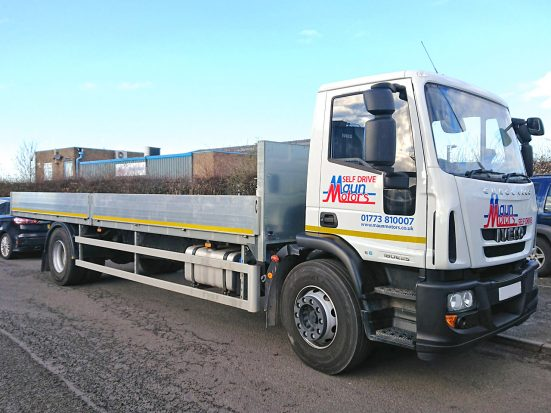 Iveco Eurocargo 18 tonne Dropside Lorry Hire 04