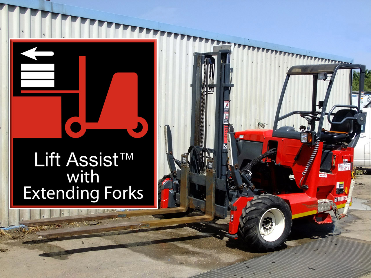 Moffett M5 with Extending Forks - Lorry-Mounted Forklift Truck Hire