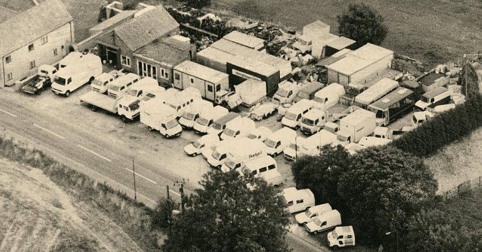 Maun Motors Sales depot 1980s Aerial