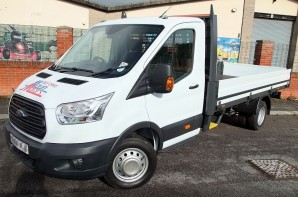 Ford Transit 3.5 tonne Dropside hire from Maun Motors Self Drive van & truck rental