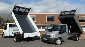 Tipper Hire - Ford Transit 3.5 tonne Tippers from Maun Motors Self Drive van & truck hire